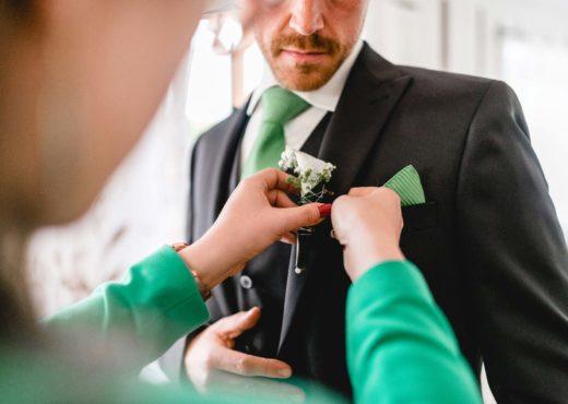 Bräutigam Vorbereitung